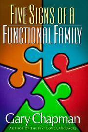 Five Signs of a Functional Family by  Gary Chapman - Hardcover - 1997 - from Snowball Bookshop (SKU: CB8202)