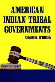 American Indian Tribal Governments (The Civilization of the American Indian Series)