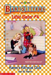 Karen's Kittycat Club - Little Sister Series #4 by Ann M. Martin - Paperback - Reprint - 1989 - from Manyhills Books and Biblio.com