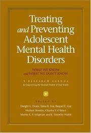Treating and Preventing Adolescent Mental Health Disorders: What We Know and What We Don't Know:...