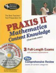PRAXIS II Mathematics Content Knowledge (0061) w/CD-ROM (PRAXIS Teacher Certification Test Prep)