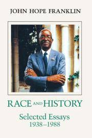 Race And History: Selected Essays 1938-1988