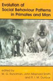 Evolution of Social Behaviour Patterns in Primates and Man