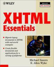 XHTML Essentials [Sep 21, 2001] Michael P. Sauers and R. Allen Wyke