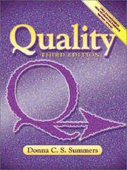 Quality (3rd Edition) [May 23, 2002] Summers, Donna C.S. and Summers, Donna