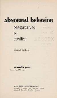 Abnormal Behavior: Perspectives in Conflict.