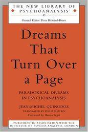 Dreams That Turn over a Page (The New Library of Psychoanalysis)