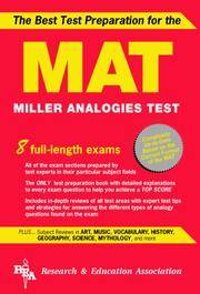 MAT -- The Best Test Preparation for the Miller Analogies Test (Miller Analogies Test (MAT)...