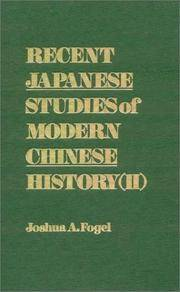 Recent Japanese Studies of Modern Chinese History ll