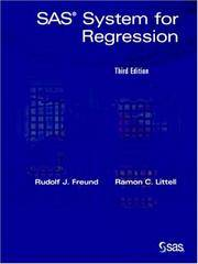 SAS(r) System for Regression, 3rd Edition