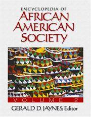 ENCYCLOPEDIA OF AFRICAN AMERICAN SOCIETY, 2 VOLS by JAYANES - Hardcover - from indianaabooks and Biblio.co.uk