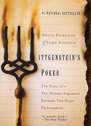 Wittgenstein's Poker: The Story of a Ten-Minute Argument Between Two Great Philosophers (SIGNED)