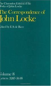 image of The Correspondence of John Locke: Volume 8: Letters 3287-3648 (Clarendon Edition of the Works of John Locke)