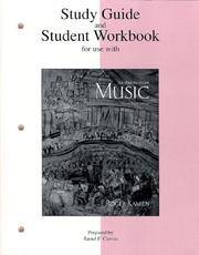 Student Study Guide For Use With Music