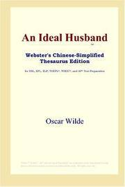 image of An Ideal Husband (Webster's Chinese-Simplified Thesaurus Edition) (Chinese Edition)