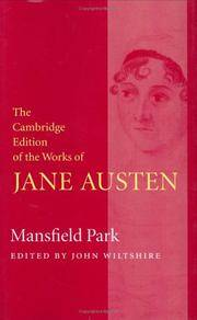 image of Mansfield Park (The Cambridge Edition of the Works of Jane Austen)