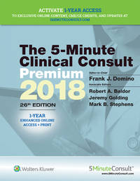 The 5-Minute Clinical Consult Premium 2018, 26/E (HB 2017) by DOMINO F J