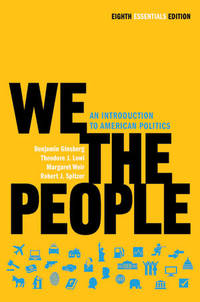 We the People: An Introduction to American Politics (Eighth Essentials Edition) by  Margaret  Theodore J.; Weir - Paperback - 2010-12-14 - from Universal Textbook (SKU: SKU0027266)