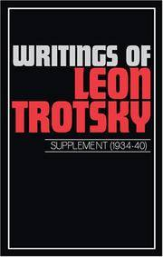 image of Writings of Leon Trotsky: Supplement (1934-40)