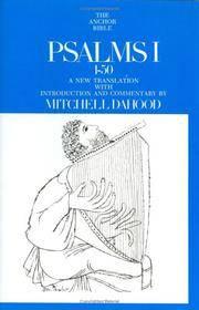 Psalms I, 1-50 (Anchor Bible Series, Vol. 16) Mitchell Dahood
