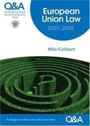 Q&A European Union Law 2007-2008 (Questions and Answers)