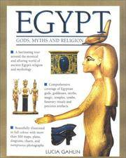 EGYPT - Gods, Myths and Religion by  Lucia Gahlin - Hardcover - from Dial a Book and Biblio.co.uk