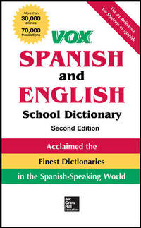 Vox Spanish and English School Dictionary, Hardcover, 2nd Edition
