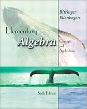 Outlines & Highlights for Elementary Algebra by Bittinger, ISBN: 0201719657