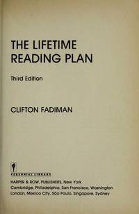 The Lifetime Reading Plan