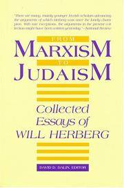 image of From Marxism to Judaism: The Collected Essays of Will Herberg (Masterworks of Modern Jewish Writing)