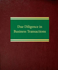 Due Diligence in Business Transactions (Corporate Law Commercial Law Business Law)