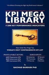 KPI Mega Library: 17,000  Key Performance Indicators by PhD, Rachad Baroudi