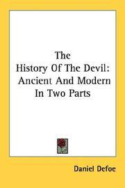 image of The History Of The Devil: Ancient And Modern In Two Parts