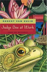 Judge Dee at Work: Eight Chinese Detective Stories (Judge Dee Mysteries)