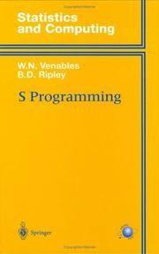 S Programming (Statistics And Computing)