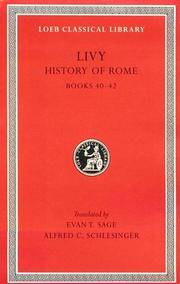 image of Livy:  History of Rome, Volume XII, Books 40-42. (Loeb Classical Library No. 332)