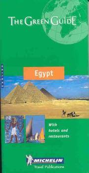 Michelin THE GREEN GUIDE Egypt (French Edition)