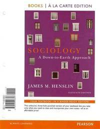 Sociology: A Down-to-Earth Approach, Books a la Carte Plus NEW MySocLab with eText -- Access Card Package (11th Edition) by James M. Henslin - 11 - 2011-10-13 - from Ergodebooks and Biblio.com