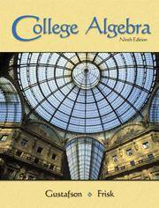 College Algebra: Ninth Editon