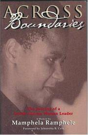 Across Boundaries: The Journey of a South African Woman Leader (Women Writing Africa)