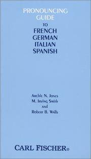 O3288 - Pronouncing Guide to French, German, Italian and Spanish