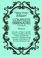 Complete Serenades in Full Score, Series II by Wolfgang Amadeus Mozart - Paperback - 1990-08-01 - from Ergodebooks (SKU: SONG0486265668)