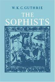 The Sophists by W. K. C. Guthrie - Paperback - 1988 - from Fireside Bookshop and Biblio.co.uk