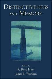Distinctiveness and Memory