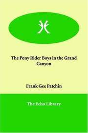 The Pony Rider Boys In the Grand Canyon