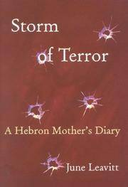 Storm of Terror  A Hebron Mother's Diary