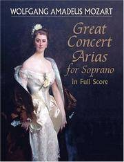 Great Concert Arias for Soprano in Full Score (Dover Music Scores)