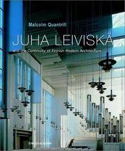Juha Leiviska and the Continuity of Finnish Modern Architecture (Architectural Monographs No)