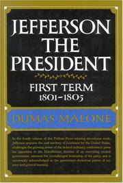 Jefferson the President First Term 1801-1805