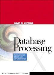 image of Database Processing: Fundamentals, Design, and Implementation (10th Edition)